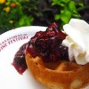 Belgian Waffles With Berry Compote and Whipped Cream Recipe