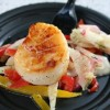 Seared Sea Scallops and Vegetable Slaw Recipe