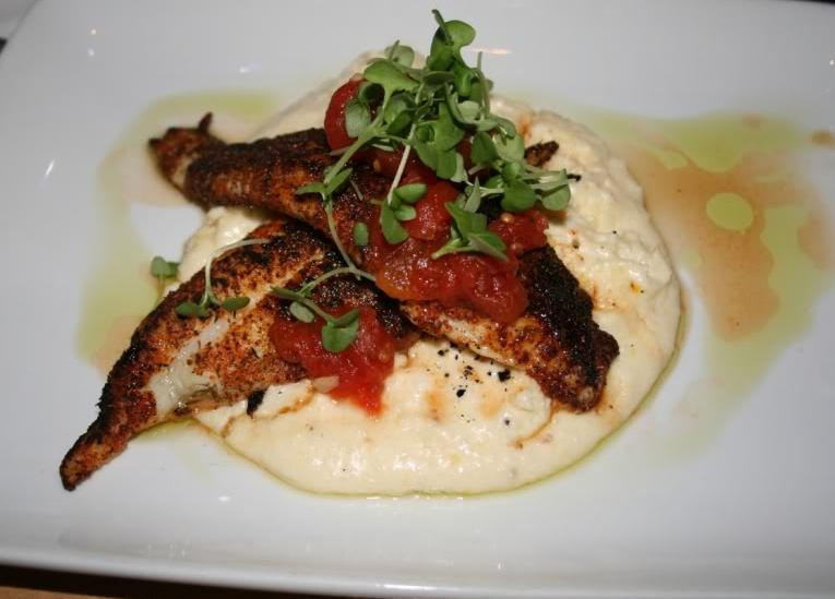 Blackened Catfish with Grits