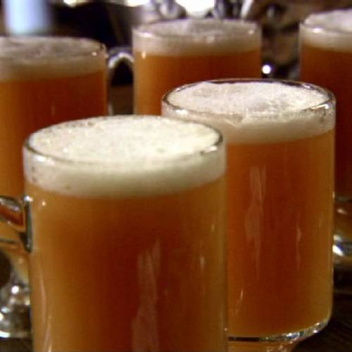 Butterbeer made with chilled cream soda and topped with a light frothy ...