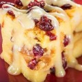 Orange Cranberry Bread Pudding With Vanilla Sauce