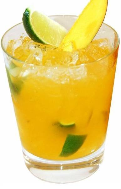 mango version of the famous Brazilian cocktail.