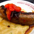 Spicy Sausage With Creamy Sweet Corn Polenta
