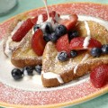 French Toast With Fresh Berries And Mascarpone Cream